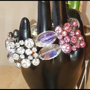 Jewelry - Brilliant fuchsia and crystal rhinestone bracelet